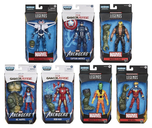 Avengers Marvel Legends Gamerverse Set of 7 Action Figures Abomination BAF Build-a-Figure
