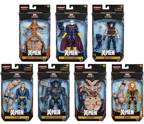 X-Men Marvel Legends Set of 7 Figures Sugar Man BAF Build-a-Figure
