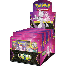 Pokemon TCG Hidden Fates Pin Collection Box Case of 8 Sealed