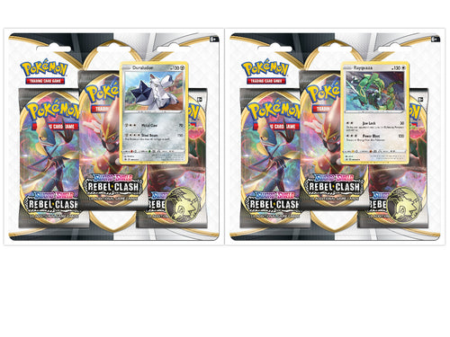Pokemon TCG Sword & Shield Rebel Clash 3-Pack Blister Packs Set of 2 SWSH2