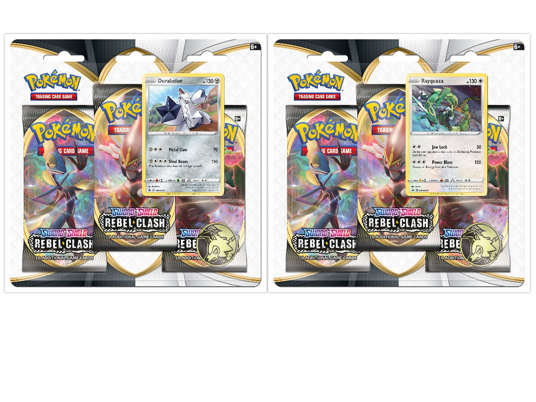Pokemon Sword and Shield Three-Booster Packs Blister Sets