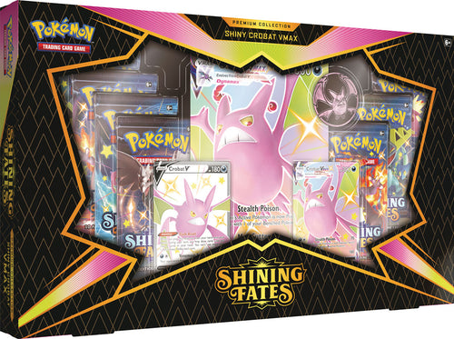 Pokemon TCG Shining Fates Shiny Crobat VMAX Premium Collection Box