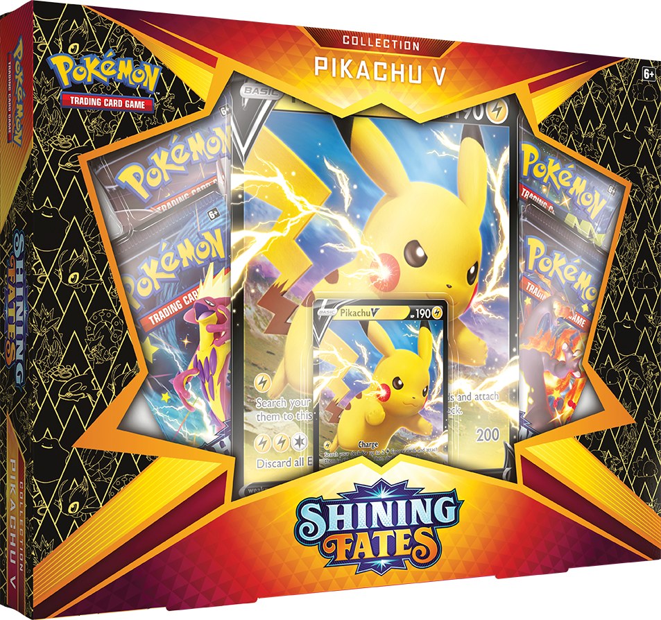 Pokemon TCG Shining Fates Pikachu V Collection Box
