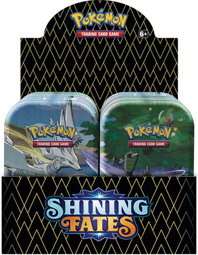 Pokemon TCG Shining Fates Mini Tins Display of 10 Tins Sealed