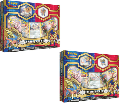 Pokemon TCG True Steel Premium Collection Box Bundle, 1 Zamazenta & 1 Zacian