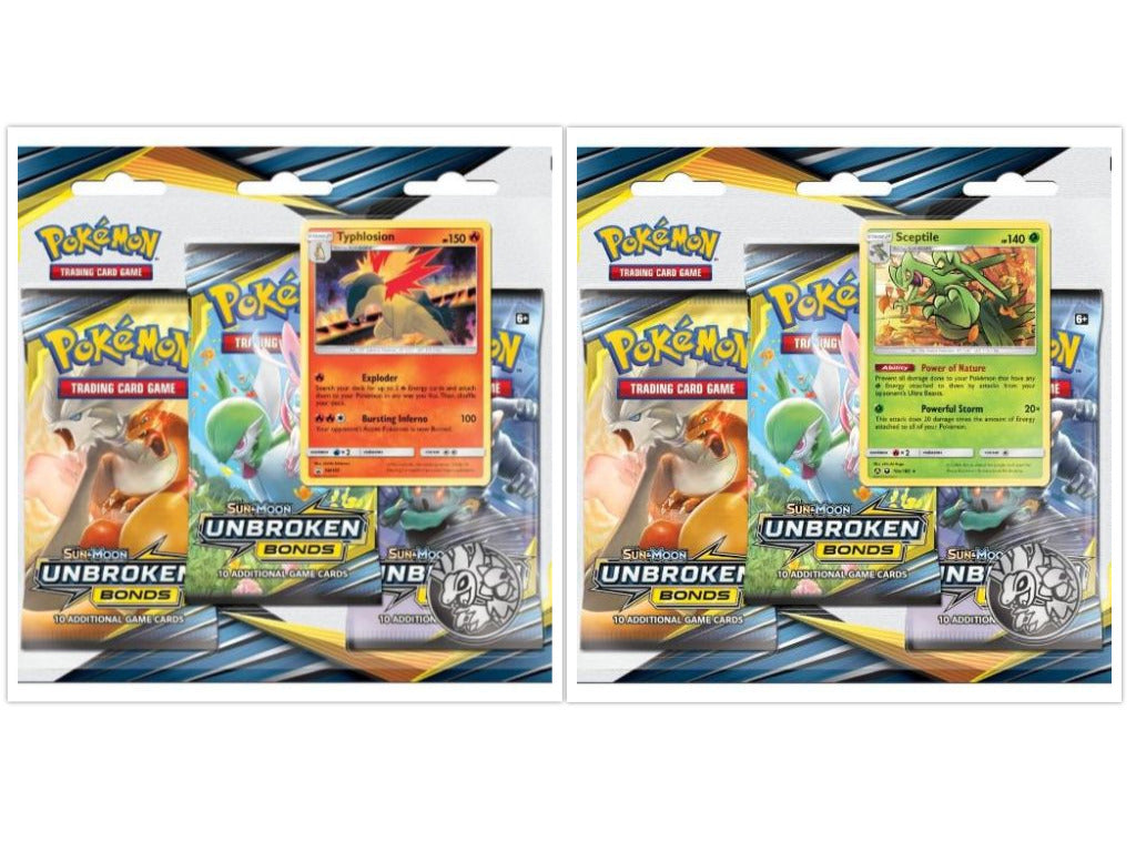 Pokemon TCG Unbroken Bonds Blister Pack Set of 2 Sun & Moon Sealed PRESALE