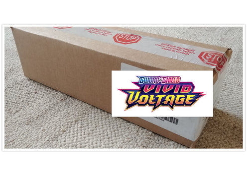 Pokemon TCG Sword & Shield Vivid Voltage Booster Box Case of 6 Boxes Sealed SWSH4