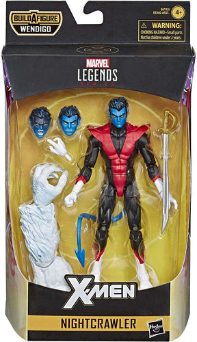 X-Force Nightcrawler Action Figure Marvel Legends Wendigo BAF X Force