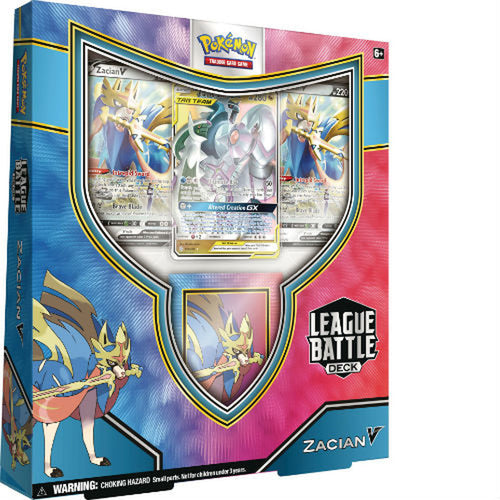 Pokemon TCG League Battle Deck featuring Zacian V
