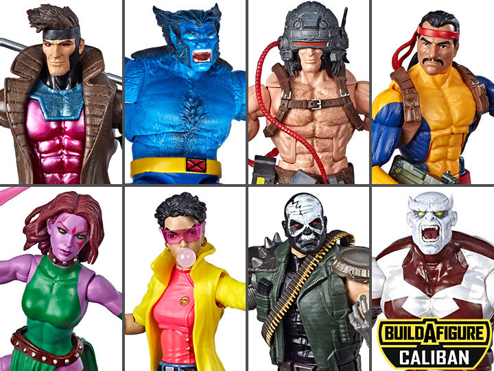 X-Men Marvel Legends Wave 4 Set of 7 Figures Caliban BAF