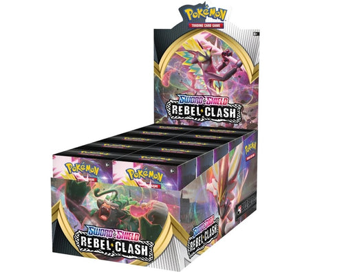 Pokemon TCG Sword & Shield Rebel Clash Build and Battle Box Display of 10 Prerelease Kits SWSH2