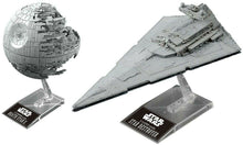 Bandai Star Wars 1/2700000 Death Star II & 1/14500 Star Destroyer Model Kit