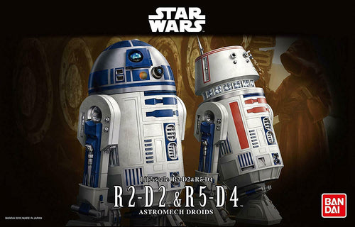 Bandai Star Wars R2-D2 & R5-D4 Model Kit 1/12 Scale Droids