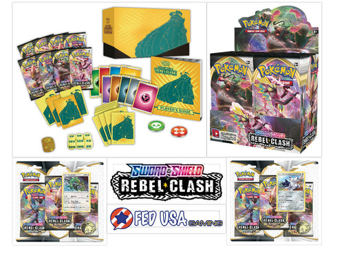 Pokemon TCG Rebel Clash ULTIMATE TRAINER KIT Booster Box + Elite Trainer + Blisters