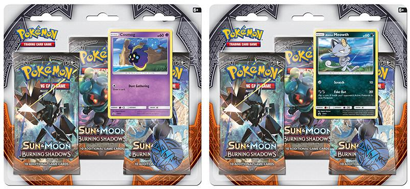 Sun & Moon Burning Shadows 3-Pack Blister Packs Set of 2