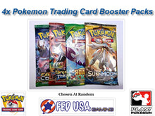 Pokemon Trading Card Game 4 Booster Packs Lot