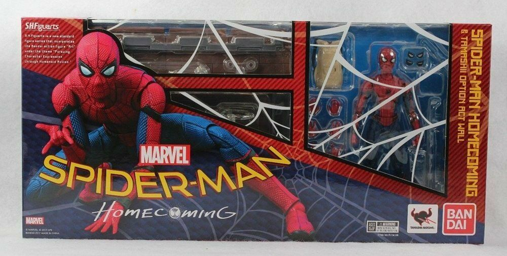 S.H. Figuarts Spiderman Homecoming with Wall Action Figure Bandai Tamashi Nations