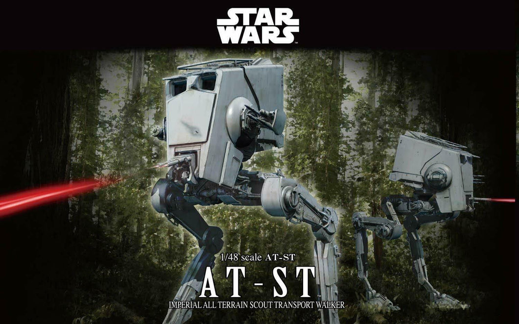 Bandai Hobby Star Wars AT-ST 1/48 Scale Model Kit Action Figure Transport Walker