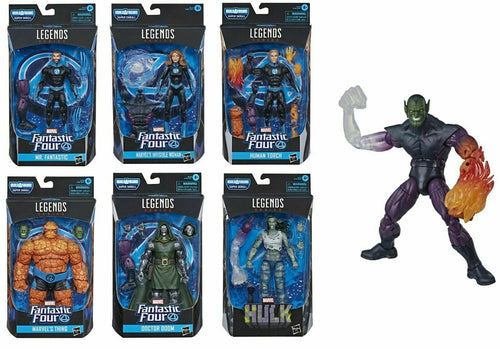 Marvel Legends Fantastic Four Set of 6 Figures Super Skrull BAF