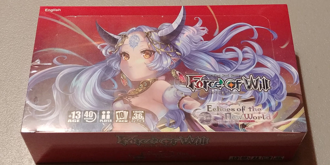 Force of Will Echoes of the New World Booster Box Sealed Lapis Cluster 4 FOW TCG