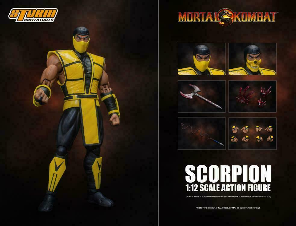 "Storm Collectibles Scorpion Action Figure 1/12 Scale Mortal Kombat 7"" Inch"