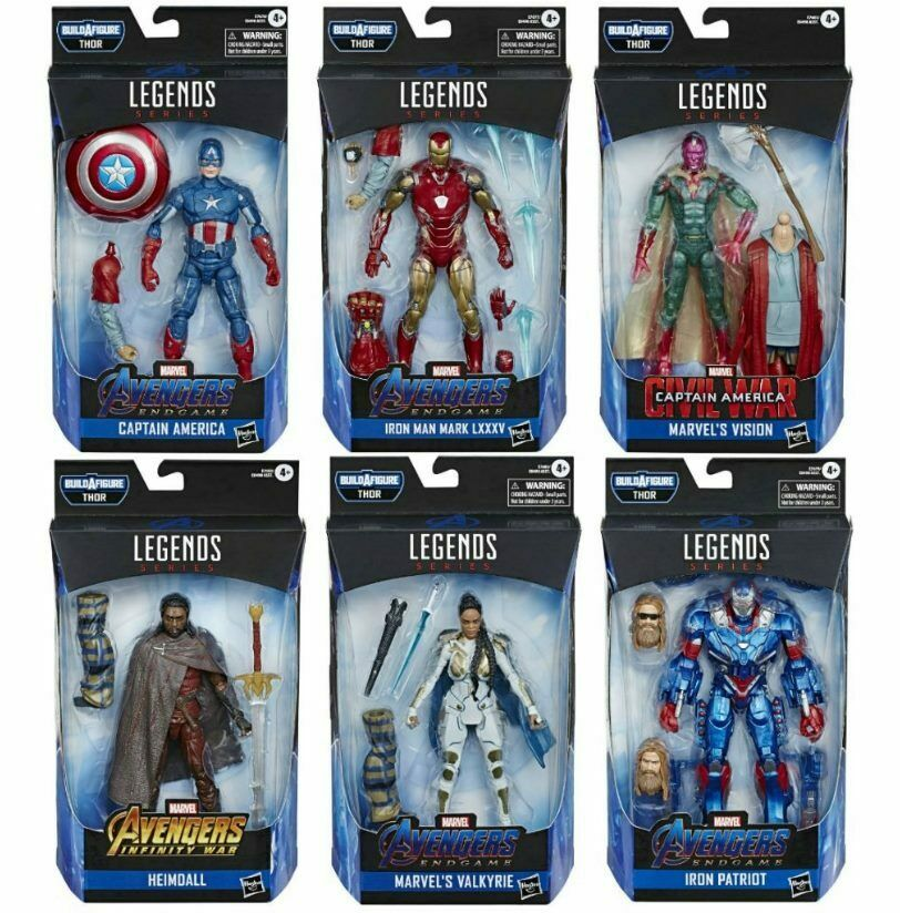 Marvel Legends Avengers Endgame Wave 3 Set of 6 Figures Fat Thor BAF