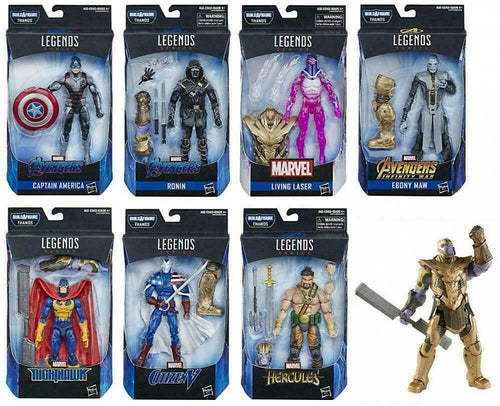 Marvel Legends Avengers End Game Armored Thanos BAF Wave 1 Set of 7 Action Figures
