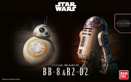 Bandai Star Wars BB-8 & R2-D2 Model Kit 1/12 Scale Droids