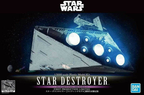 Bandai Star Wars Star Destroyer Lighting Version 1/5000 Scale Model Kit 1st Production Limited