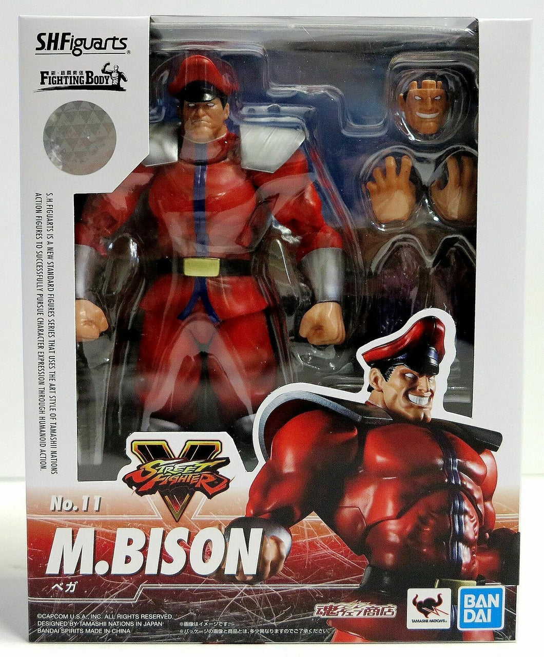 S.H. Figuarts M Bison Action Figure Street Fighter No. 11 Bandai Tamashi Nations
