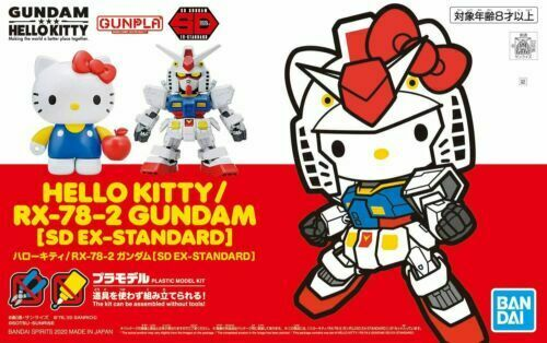 Bandai Hello Kitty RX-78-2 Gundam Model Kit SD EX-Standard Non-Scale Kit