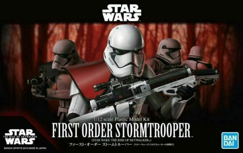 Bandai Hobby Star Wars First Order Stormtrooper 1/12 Scale Model Kit Action Figure