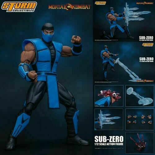 "Storm Collectibles Sub-Zero Action Figure 1/12 Scale Mortal Kombat 7"" Inch Scale"