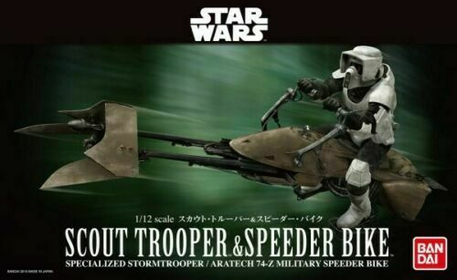 Bandai Star Wars Scout Trooper and Speeder Bike Model Kit 1/12 Scale