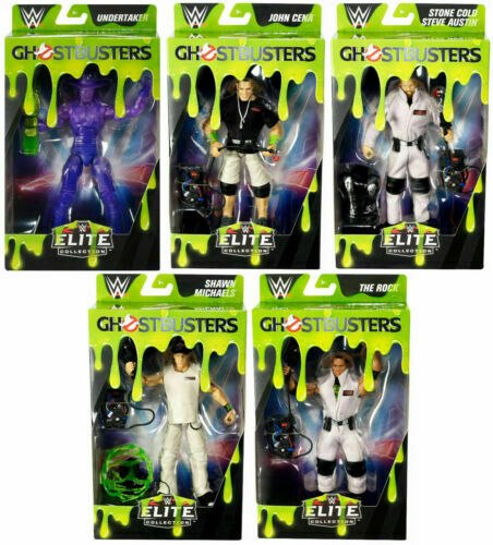 WWE Mattel Elite Series Ghostbuster Figures Complete Set of 5