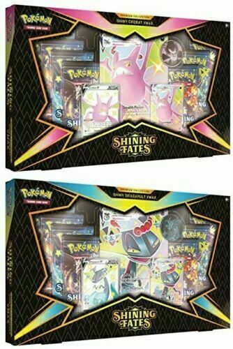 Pokemon TCG Shining Fates Premium Collection Box Set of 2 Crobat & Dragapult