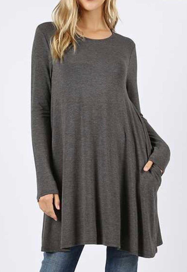 Grey tunic with pockets
