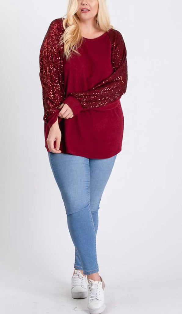 Sequin Bishop Sleeve