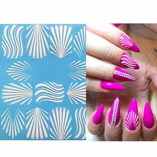 3D Acrylic Engraved  Nail Sticker Winter Sweater Charm desgin Water Decals Empaistic Nail Water Slide Decals Z0249