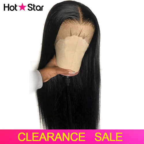 Straight Lace Front Human Hair Wigs Pre Plucked Hairline 150% 13x4 Lace Front Wig 8-26 inch Brazilian Remy Hair Middle Ratio