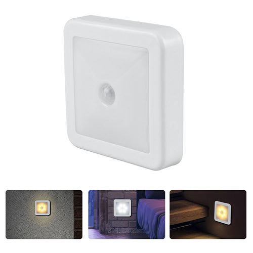 New Night Light Smart Motion Sensor LED Night Lamp Battery Operated WC Bedside Lamp For Room Hallway Pathway Toilet A