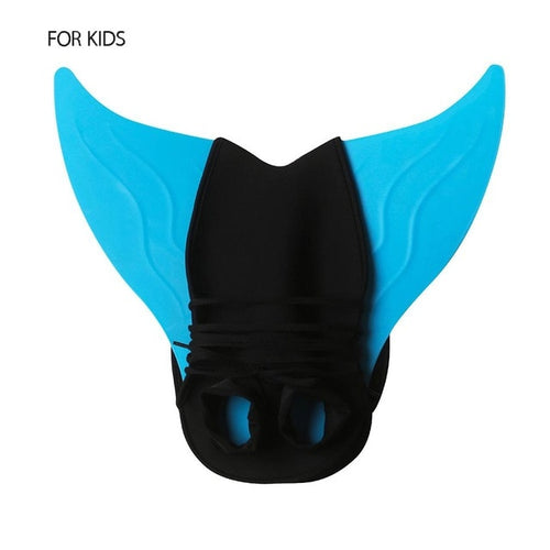 Kids Adults Mermaid Tail Swimming Fin Snorkeling Foot Flipper Diving Swimming Assistant Tool Elastic Breathable Flippers Fins