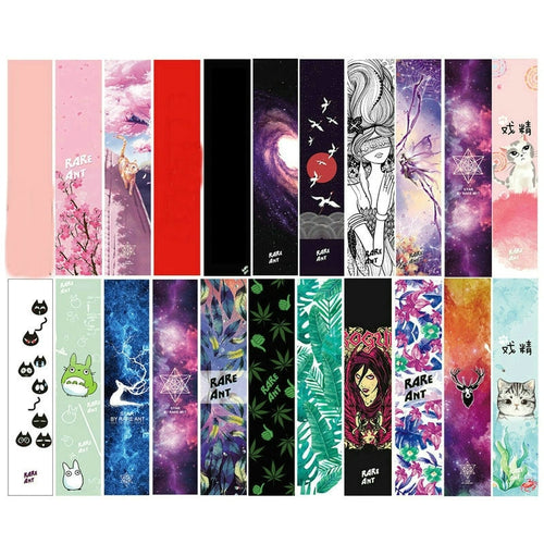 122cm Dancing Longboard Griptapes Long Board Grip Tape Skateboard Griptapes Anti-Slid Sandpaper Colorful Graphic Deck Protective