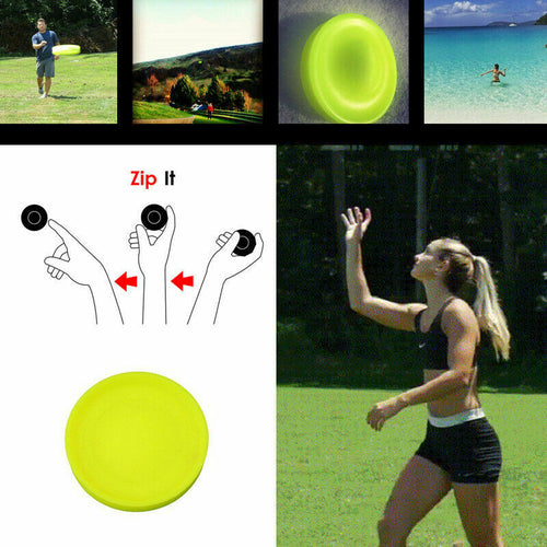 Color Mini Pocket Flexible Zip Chip Flying Discs Soft New Spin Zipchip In Catching Game Flying Disc Beach Outdoor Toys