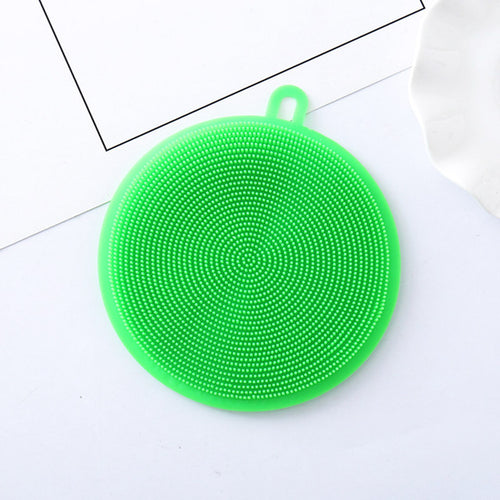 1PC New Silicone Dish Bowl Cleaning Brush Silicone Scouring Pad Silicone Dish Sponge Kitchen Pot Cleaner Washing Tool