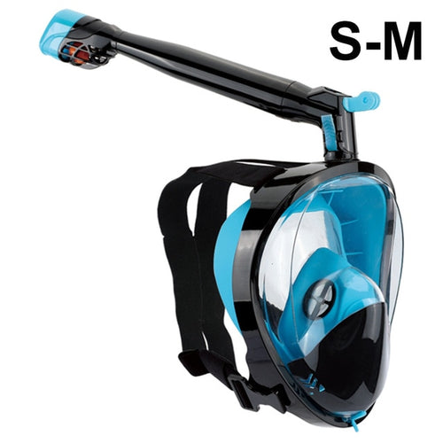 2019 New Snorkel Mask Scuba Underwater Diving Mask 360 Degree Rotate Full Face Snorkeling Masks 180 View Anti-fog Anti-Leak