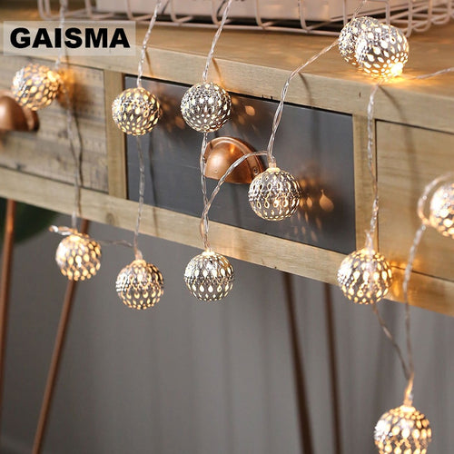 10M Ball LED Christmas Garland Lights String Bedroom Fairy Lights Decoration For Holiday Party Wedding Home Lighting Chain
