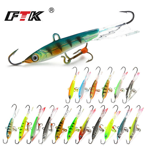 FTK Colorful Winter Ice Fishing Lure Balancer 1PC 6.5cm/22g 5.5cm/12g 5cm/12g Hard Bait Pesca Tackle