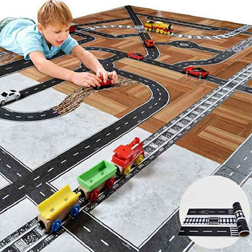 Creative DIY Traffic Railway Road Tape Adhesive Tape  Scrapbooking Label Craft Masking Tape For Kids Toy Car Play