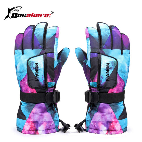 Men Women Chidren Waterproof Ski Gloves Winter Snowboard Gloves Family Motorcycle Skiing Climbing Cycling Gloves Snow Mittens